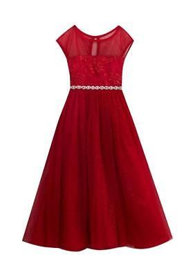 RARE EDITIONS® Little Girls' 4, 6X Red Lace Sparkle Holiday Dress NWT - Little Girls Lace Dresses