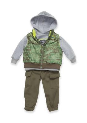 NANNETTE® Baby Boy 12M Roar 3-Piece Vest Set NWT $50 Nannette Baby Set