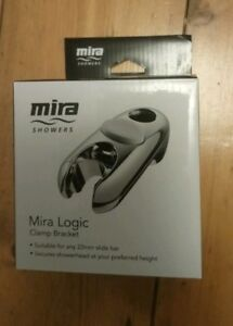 MIRA LOGIC CLAMP SHOWER HEAD HOLDER FOR 22MM CURVED RAILCHROME  450.24