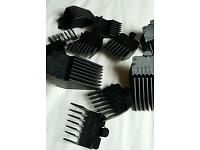 Unused hair trimmer clips. 12 clips