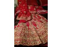 asian bridal wedding lengha