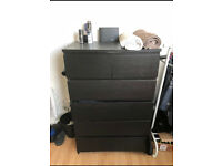 Black Ikea Dresser / Chest of Drawers