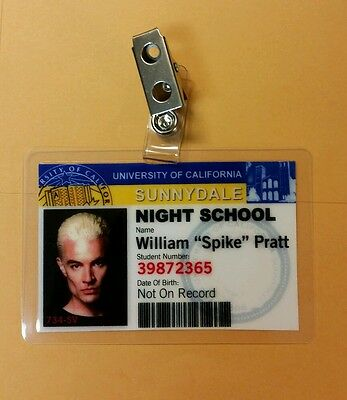 Buffy Vampire Slayer ID Badge-Sunnydale William