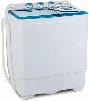 26LBS Compact Portable Washing Machine Twin Tub w/ Drain Pump Spiner Dryer Blue