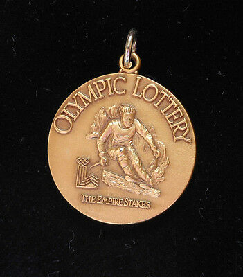 Coin   New York State Lottery Olympic Downhill Skier Medal Medallion