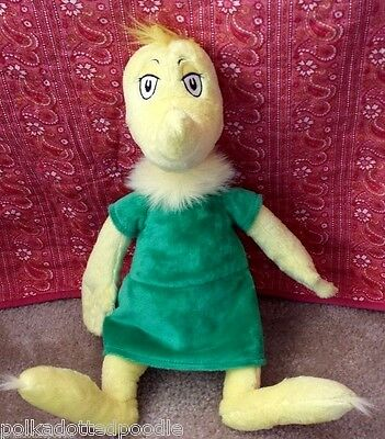 Dr Seuss Girl Characters (Dr Seuss stuffed Yellow & Green Girl Sneetch Sneetches Book Character plush)