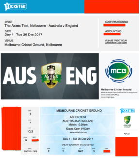 4x Boxing Day Test Tickets - Prime Position, Seated Together.