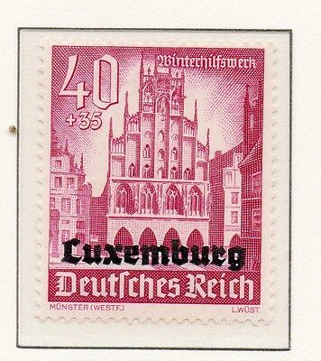 Luxembourg 1941 Early Occupation Issue Fine Mint Hinged 40+35c. Optd 150948