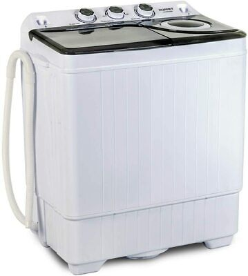 26LBS Compact Portable Washing Machine Twin Tub w/ Drain Pum
