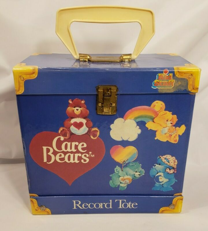 Vintage 1984 Care Bears Record Tote/Box to hold Small Records