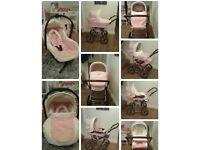 Babystyle prestige 2 in 1 pram in rose