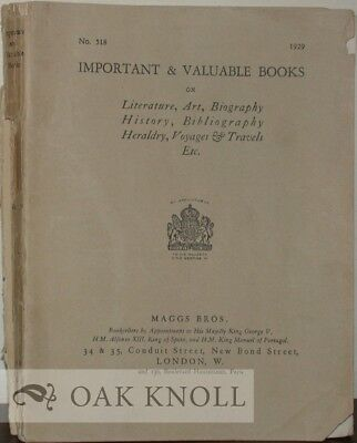 518 / IMPORTANT & VALUABLE BOOKS ON LITERATURE ART BIOGRAPHY HISTORY 1929 for sale  Shipping to Canada