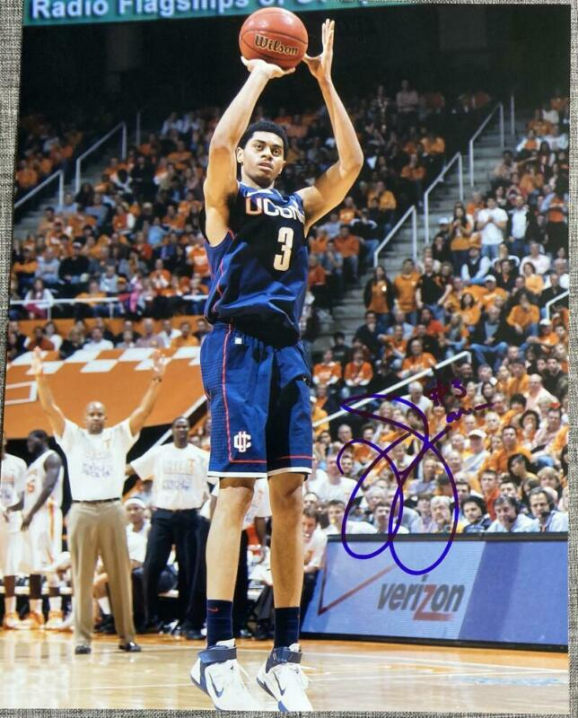 JEREMY LAMB SIGNED AUTOGRAPH 11X14 PHOTO PACERS STAR ACTION POSE COA B