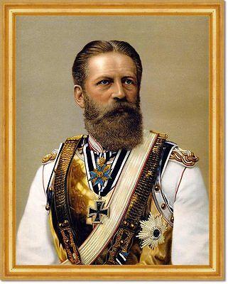KAISER FRIEDRICH III. - Deutscher Kaiser König von Preußen LEINENFAKSIMILE 154
