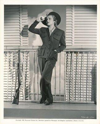 MADELEINE CARROLL Original Vintage Paramount SAFARI FASHION DbW Portrait Photo