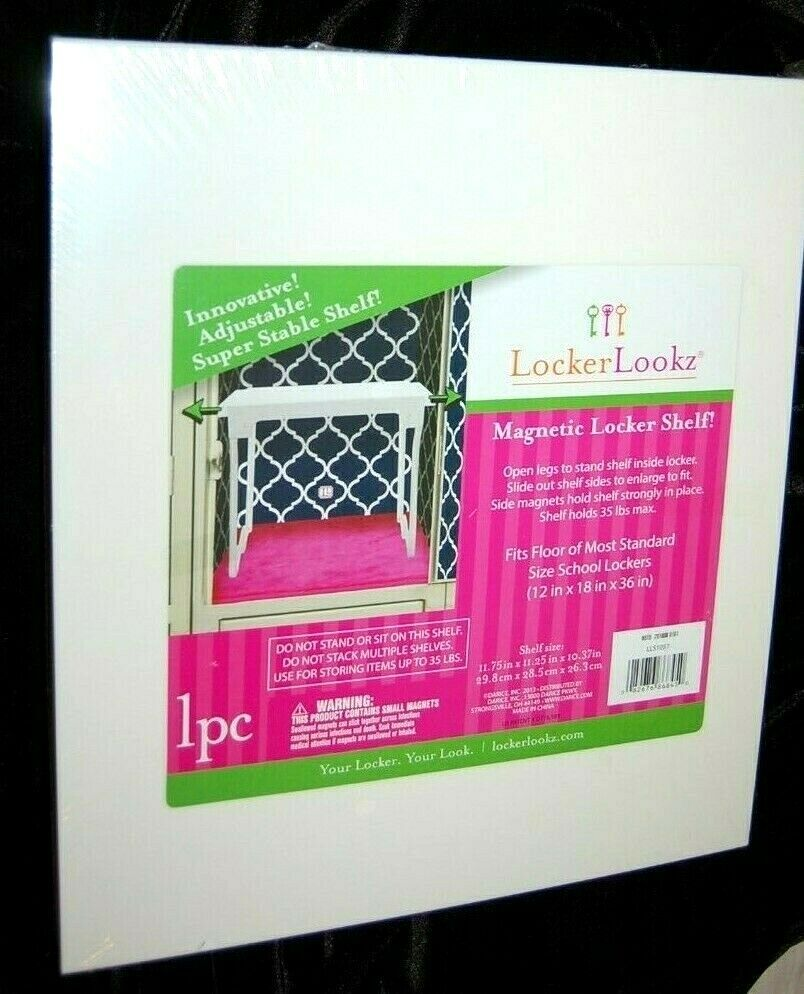 NEW LOCKER LOOKZ MAGNETIC LOCKER SHELF  FOR SCHOOL LOCKER AD