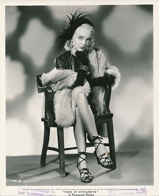CAROLYN JONES First Film Leggy Vintage '52 THE TURNING POINT Noir Portrait Photo