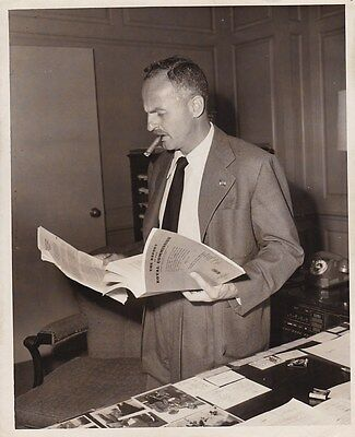 DARRYL ZANUCK Original CANDID Studio Office Vintage 1940s Photo Hollywood Mogul