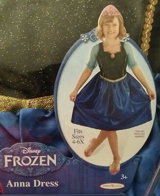 FLASH SALE》New Girl's 4-6x Authentic Disney Frozen Anna Dress Play Dress Up
