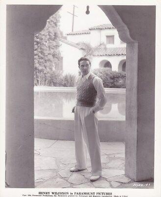 Henry Wilcoxen Original Candid Vintage 1934 Cleopatra Paramount Studio Photo