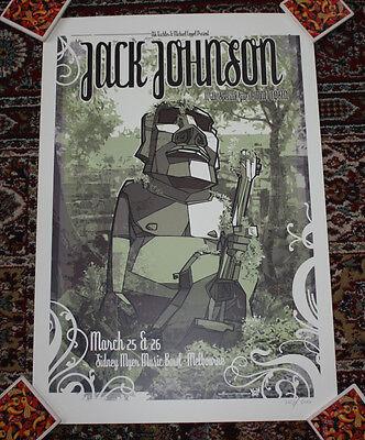 JACK JOHNSON concert gig poster print March 2008 MELBOURNE Australia