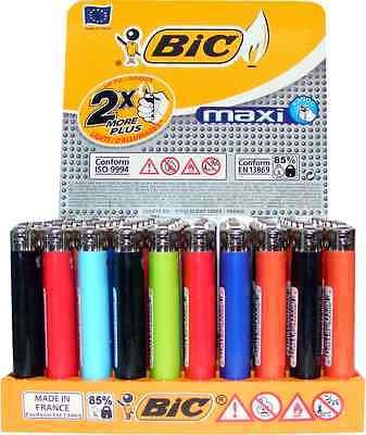 50x Feuerzeuge BIC Maxi Reibrad Einweg mit Kindersicherung #144315