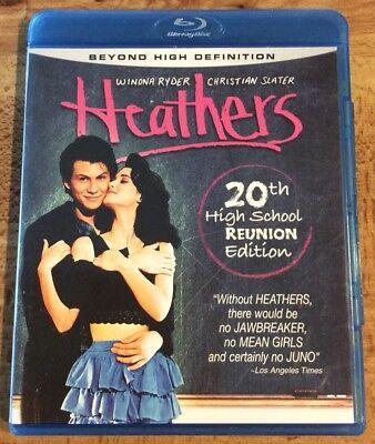 Heathers  Blu Ray  20Th High School Reunion Ed Winona Ryder Christian Slater