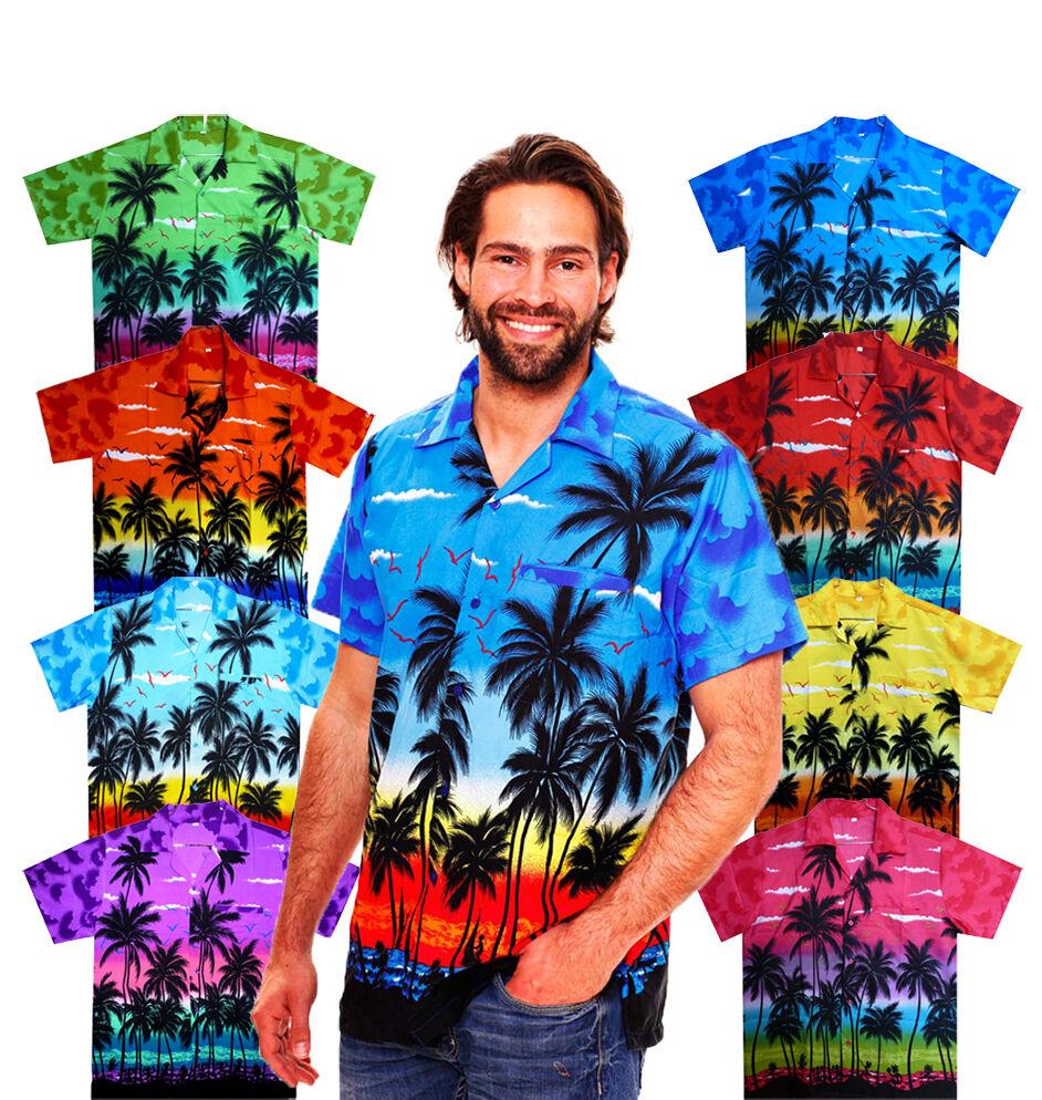 Funky Hawaiihemd, Beach Strand, Hawaiian Shirt Multi Kurzarm Front-Tasche