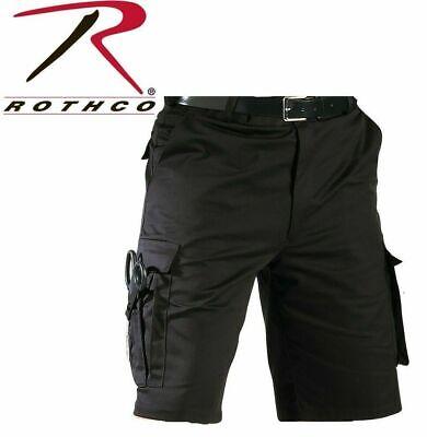 7 Tactical Shorts (Black ROTHCO 78231 MENS Tactical Shorts 7 Pocket Police EMS & EMT Uniform Cargo )