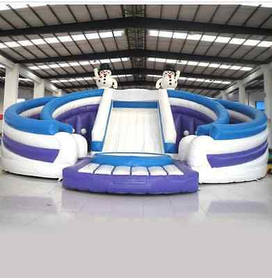 Bouncy Castle huge big Jumping Inflatable water slide park Trampoline We Finance