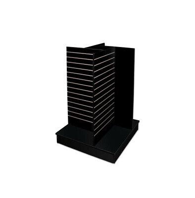 Black - 4-way Slatwall Pinwheel Unit Knockdown Display Fixture