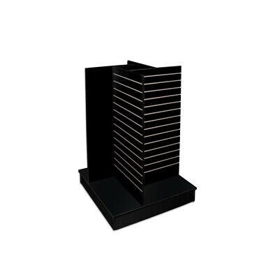 54 High Heavy Duty 4-way Slatwall Pinwheel Unit Display Fixture - Black