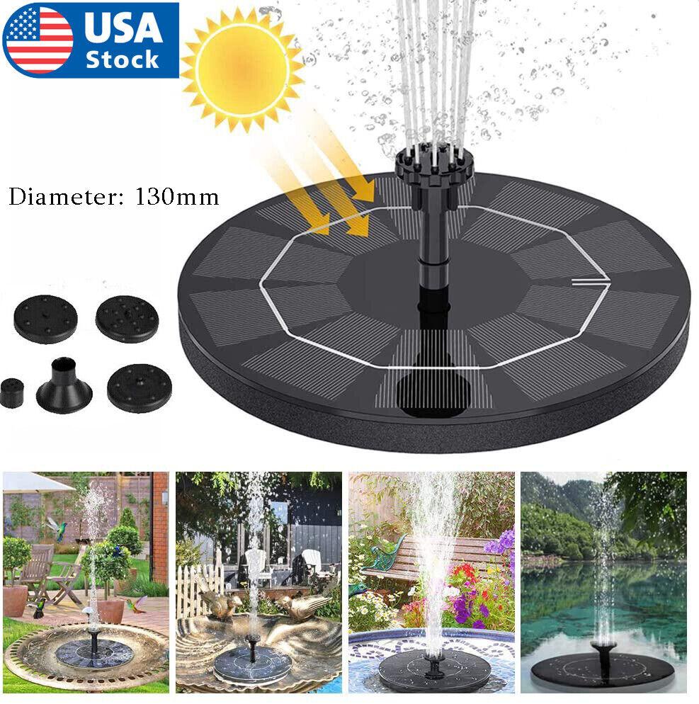 Outdoor Solar Powered Floating Water Fountain Pump Bird Bath Garden Pond Pool US Home & Garden