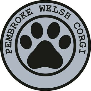1x-PEMBROKE-WELSH-CORGI-PAW-PRINT-SEAL-TRACK-FUNNY-STICKER-DOG-PET-DECAL-VINYL