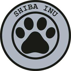1x-SHIBA-INU-PAW-PRINT-SEAL-TRACK-FUNNY-STICKER-DOG-PET-DECAL-VINYL