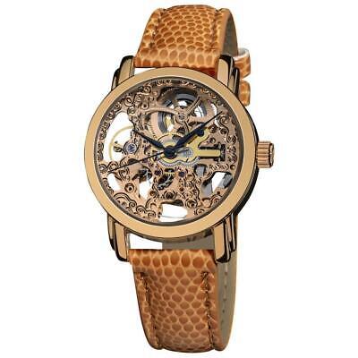 Akribos XXIV AK431RG Automatic 16K Rose Gold Plated Skeleton Watch