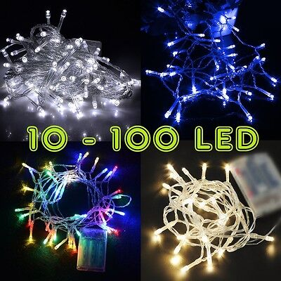 Perfect Holiday 10-100 LED 1M-10M Battery Operated String Lights Fairy Wedding (Holiday Led Lights)