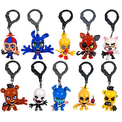 3  Five Nights At Freddys Fnaf Clips Figure Keychain Official Great Collection
