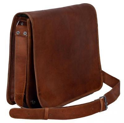 Best Vintage Bull Leather Tote Mens Briefcase Laptop Case Messenger Shoulder