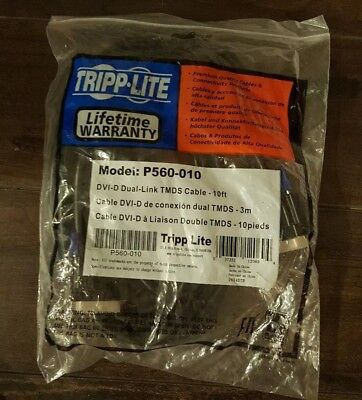 Tripp Lite P560-010 Dvi Dual Link Digital Tmds Monitor Cable 10ft