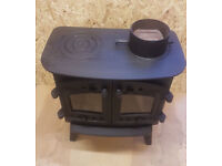 Arada 8kw Villager 'Kitchener' - Used 2nd-hand Wood Burner - Stove woodburner Log Hotplate Fire