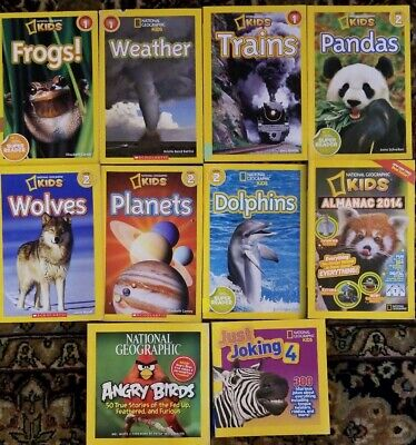Lot 10 NATIONAL GEOGRAPHIC Kids Books Ultimate Weird but True Best Weird