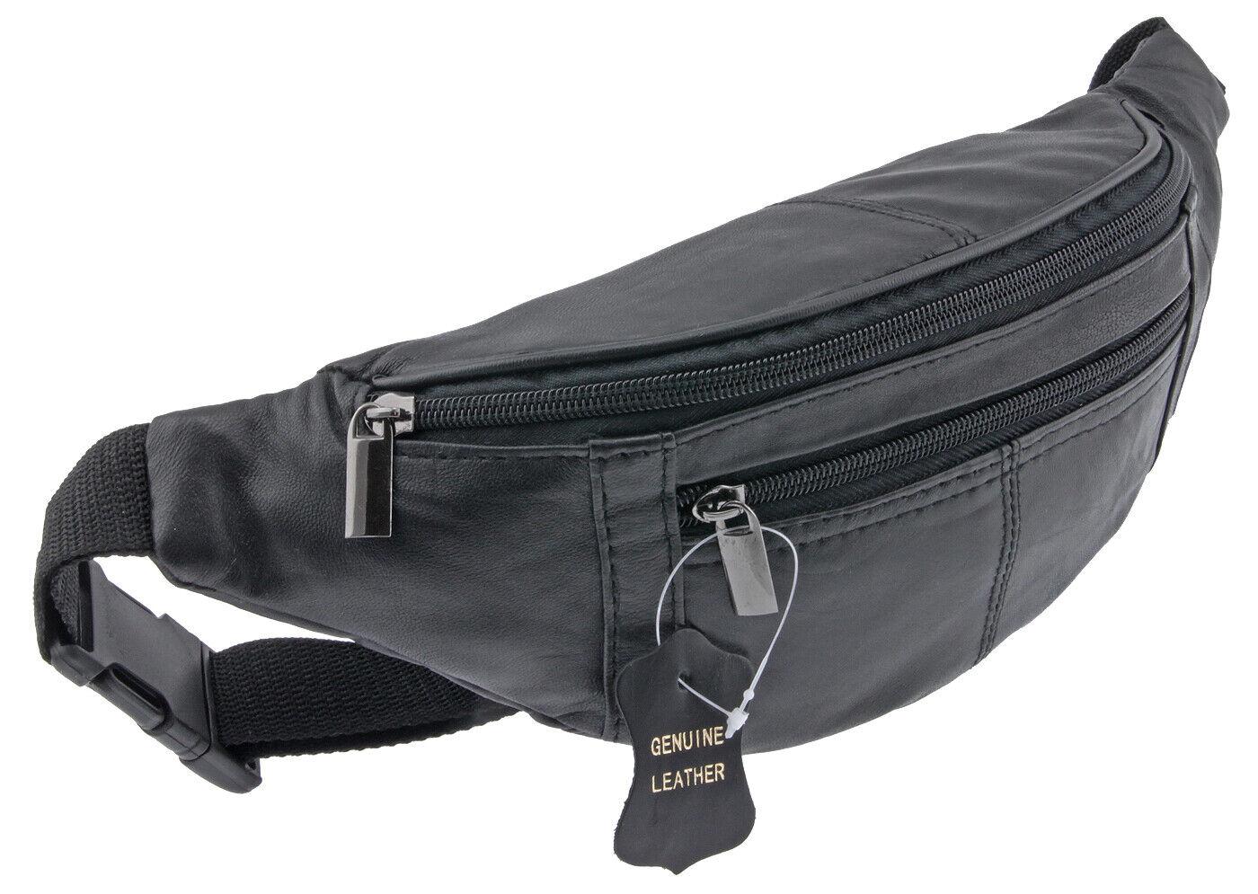 Gürteltasche Hüfttasche Bauchtasche Umhängetasche Crossbag - Echt Leder! LK525
