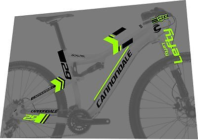 Cannondale Lefty Scalpel SI 29 Bicycle decal Kit NOUVEAU