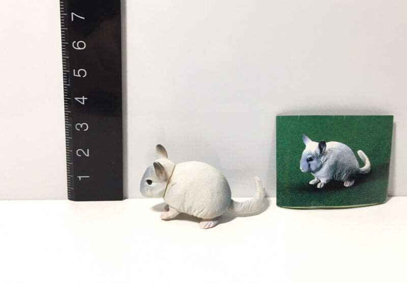 RARE Kaiyodo Chocoq Choco Q Pet Animal 4 Light Gray Chinchilla B Figure