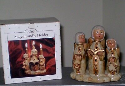 Scotts Christmas Collectibles Angels Candle Holder #6766