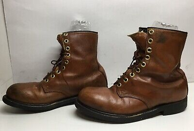 VTG MENS IRON AGE STEEL TOE WORK BROWN BOOTS SIZE 10?