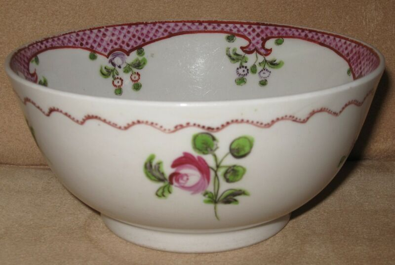 "Circa 1795-1805 New Hall Porcelain Waste Slop Bowl 6-1/4"" diameter pattern 173"