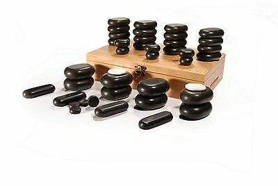 Master Massage 40 pcs Hot Stone Set Basalt Rock Therapy Pain Relief volcano lava