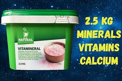 NATURAL GRANEN VITAMINERAL 2.5 KG PIGEON POULTRY VITAMINS MINERALS CALCIUM NEW
